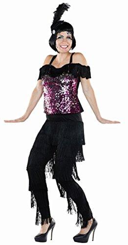 Fransenhose 20er Charleston Hose Kostüm für Damen