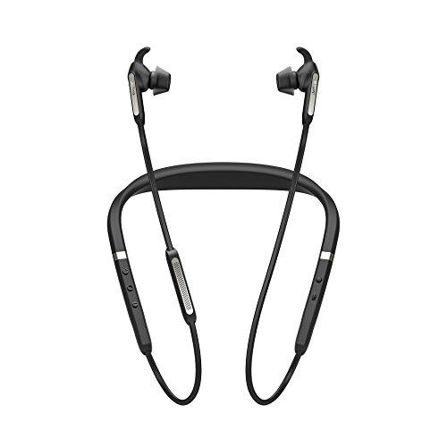 Jabra Elite 65e Titanium Black Neckband Headphones (Renewed)