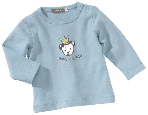 Lana T-Shirt Ourson uni 92 1214 5013 pour bébé garçon - Bleu - 74 cm/82 cm