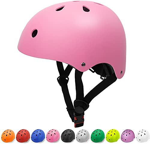 Toddler Helmet Girls Kids Bike Helmet Child Helmet Impact Resistance Ventilation Adjustable Toddler Bike Helmets for Cycling Bicycle Scooter Helmet (Pink, Small)