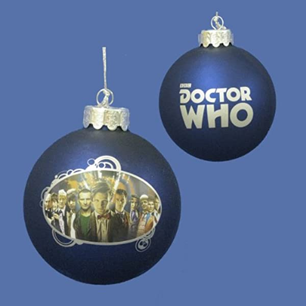 Kurt Adler 3 25 Doctor Who The Many Faces Of The Doctor Glass Disc Christmas Ornament