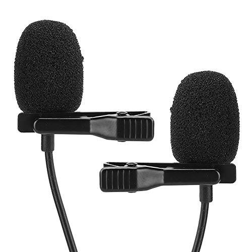 Negro Micrófono, El plastico y Metal Enchufe En el Cable 2.0v Condensador Transmisión Micrófono