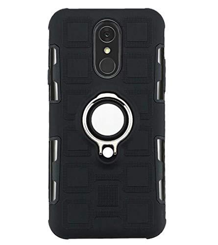 NANXCYR Für LG Q7 / Q7 aipha / V30 / Q8 / H970 / Q6 / Q6 Mini Fall, PC-TPU Invisible Ring Stoß- Anti-Fall-Abdeckung für LG stylo5 / K40 / K12 / K50,Schwarz,LGQ8/H970