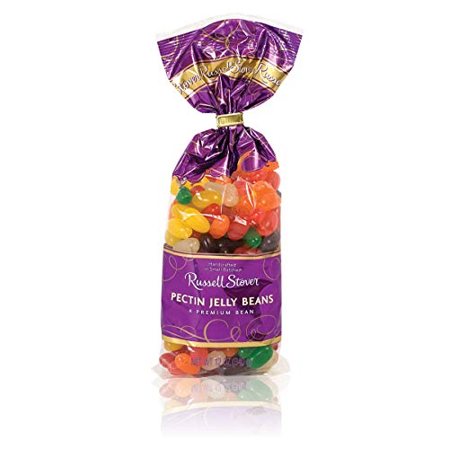 Russell Stover Pectin Flavored Jelly Beans Candy, Assorted Flavors, Pack of 4, 12 Ounce Bags (48 Ounces Total)