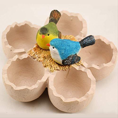 WZ YDTH handgemaakte decoratieve ornamenten vogel en ei hars knutselen creatieve bloempotten vetplantjes bloempotten mos micro landschap decoratie bloemenarrangement