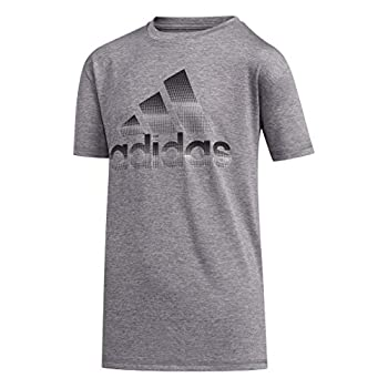 adidas Boys  Little Kids Stay Dry Moisture-Wicking AEROREADY Short Sleeve T-Shirt Pixel Grey 6