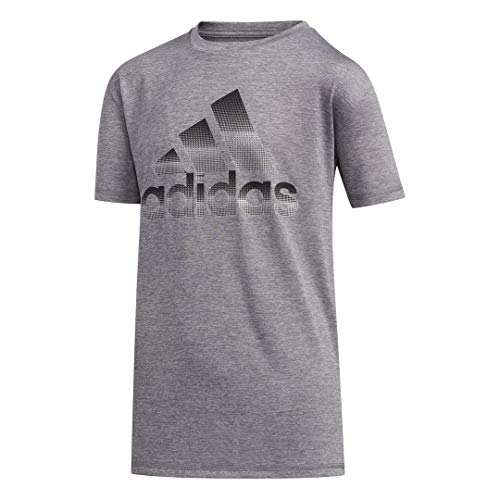 adidas Jungen Stay Dry Moisture-Wicking AEROREADY Short Sleeve T-Shirt, Pixel Grau, 2 Jahre