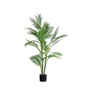 PIVFEDQX Artificial Tree Simulation Tree Large Artificial Tree Hawaii Bamboo Leaves Green Plants Wedding Home Office Bonsai Decorative Potted Plants Tree Fake Fake Trees (Size : 135cm)