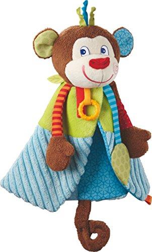 HABA 302994 - Schmusetuch Affe Lino | Kuscheliges Schnuffeltuch für Mädchen und Jungen mit Knisterfolie und Beißelement | Ab 6 Monaten