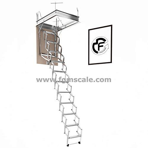 Escalera Escamoteable Pantógrafo Buhardilla pantógrafo manual lado S70