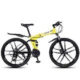 Bicicleta De Montaña De 26 Pulgadas Y 24 Velocidades para Adultos, Cuadro Ligero con Suspensión Completa, Horquilla De Suspensión, Freno De Disco