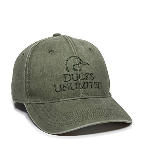 Outdoor Cap Ducks Unlimited Olive Hat, Hunting, Fishing, Cap