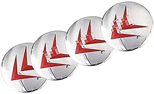 LIBAOBAO 4 Piezas Coche Tapas Centrales Rueda para Citroen C4 C5 C6 C8 C2 C3 C-Elysee AX DS,Tapas Centrales para Llantas,Tapacubo Tapas Centrales Bujes Emblema Coche Accessories,65mm