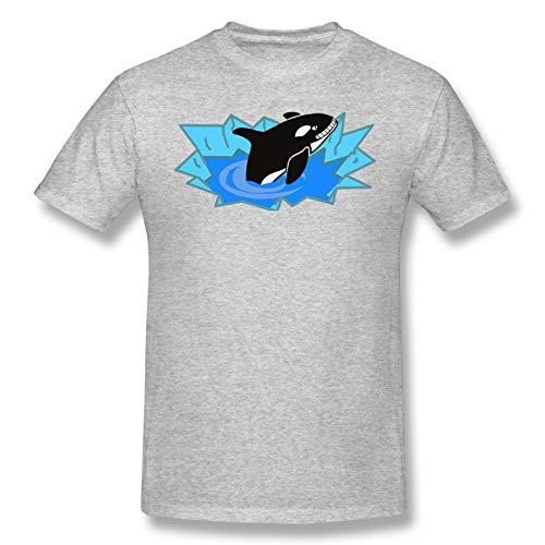 Orca Killer Whale - Camiseta básica de manga corta para hombre, color negro gris XXL