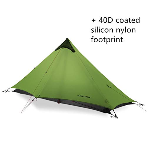 BAJIE tent Flame'S Creed 805G Oudoor Ultralight Camping Rodless Lanshan 1 Tent 3 Season 1 Single Person Professional 15D Nylon Silicon Tent And Footprint