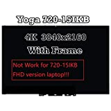 15.6'' 4K UHD LCD Touch Screen Assembly+Bezel Fit Lenovo Yoga 720-15IKB 80X7 UHD