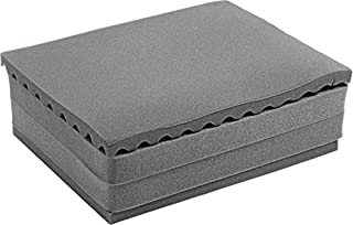 Pelican 1500 / 1501 Upgraded 4 piece foam set. 1 convoluted lid foam, 2 middle pluck pieces, and 1 bottom pad.