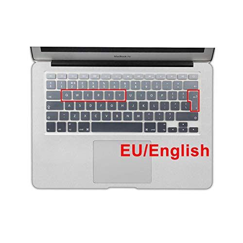 Euro Spanish English Russia water Dust proof keyboard cover for macbook air 13 protector Gradual change colors pro 13 15 retina-EU English Grey-