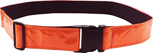 FireForce Military 3M Hi Visibility Reflective Belt, Very Durable, Weather Resistant PT Belt Made in USA (Red-Orange)