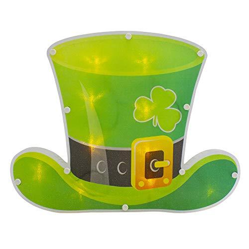 Northlight 12.5' LED Lighted Irish St. Patrick's Day Leprechaun Hat Window Silhouette with Timer
