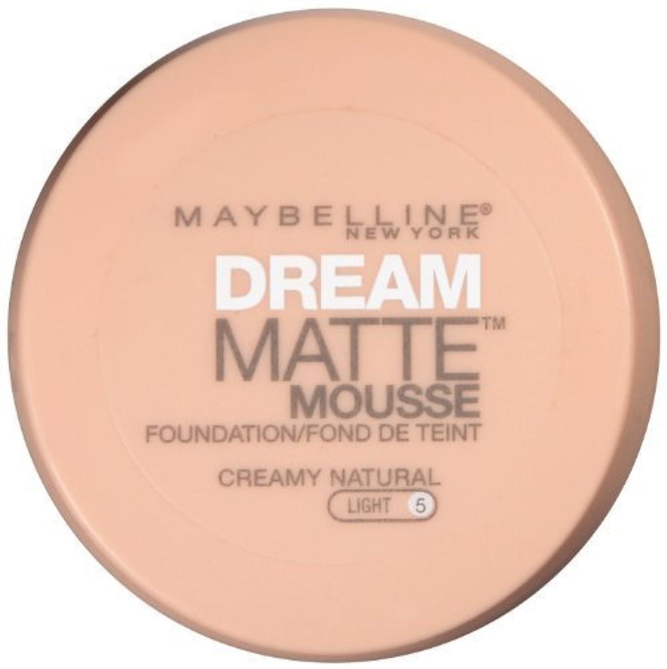 酸決定的昼寝MAYBELLINE Dream Matte Mousse - Creamy Natural (並行輸入品)