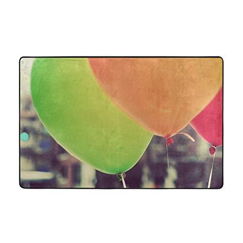 Jacklee Designer Teppich Wohnzimmer Teppich Bordüre in City Balloons, Grösse:100x150 cm