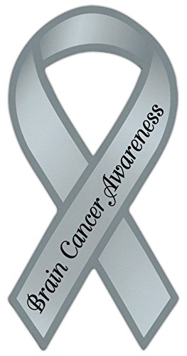 Crazy Sticker Guy Ribbon Shaped Awareness Support Magnet - Brain Cancer - Cars, Trucks, Refrigerators