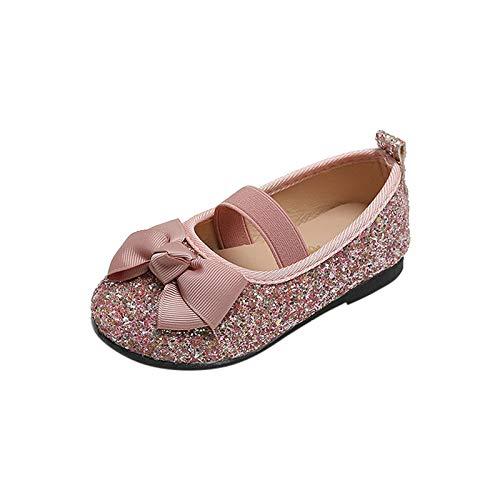 YWLINK Vestido De Cosplay para NiñAs Zapatos De Fiesta Zapatos con Purpurina Zapatos De TacóN Bajo Zapatos De Princesa con Lentejuelas para NiñAs Zapatos De Rendimiento con Nudo De Lazo