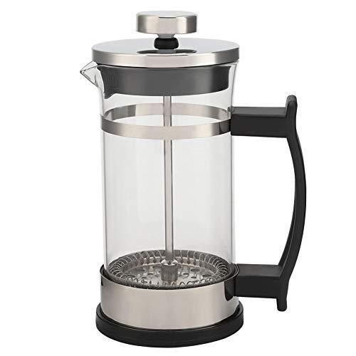 Roberee Cafetera - Cafetera de Vidrio de Acero Inoxidable Cafetera de Filtro de Prensa Francesa Tetera doméstica