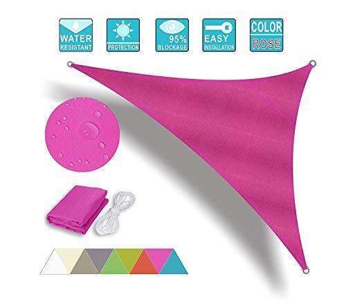 CAIJUN Voile Ombrage Toile D'ombrage De Plein Air Triangle Étanche Pergola Auvent De Voiture Respirant Durable, 4 Couleurs 13 Tailles (Color : B, Size : 3.5x3.5x3.5m)