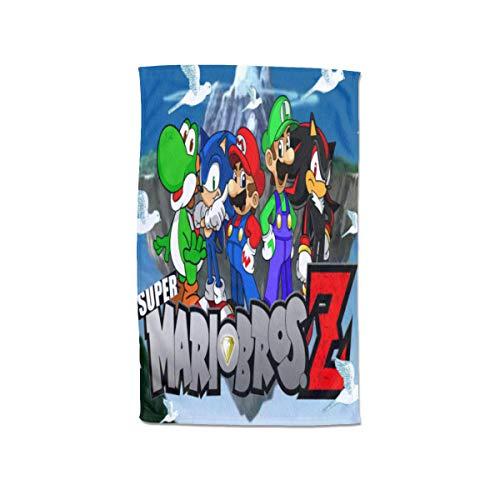 Large Puzzle Super Mario Super Soft Feel 100% algodón | Perfecto para el hogar, playa y piscina, 80 x 130 cm