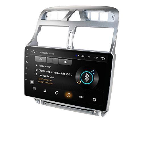 Android 10 Autoradio-Radio mit 9-Zoll-Touchscreen Auto-GPS-Navigation Passend für 2002-2013 Peugeot 307 / 307CC / 307SW Auto-GPS-Navigation unterstützt Lenkradsteuerung