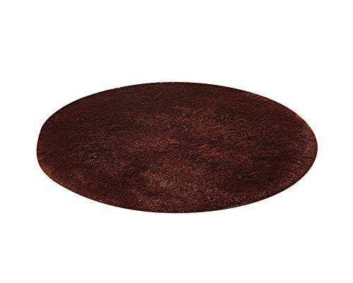 PengGengA Hochflor Langflor Shaggy Teppich Rund - Sofort Lieferbar In 9 Größen Kaffee 120 * 120CM