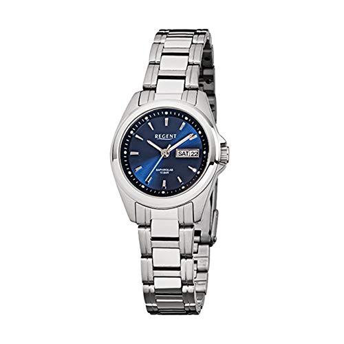 Regent Damen-Armbanduhr Elegant Analog Stahl-Armband silber Quarz-Uhr URF518