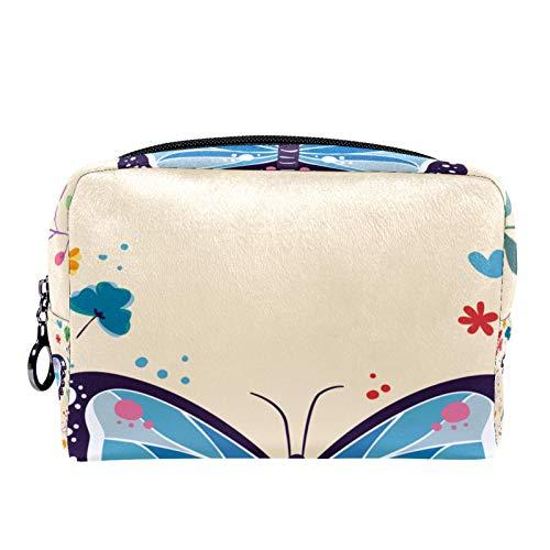 Bolsa de cosméticos Bolsa de Maquillaje para Mujer para Viajar para Llevar cosméticos, Cambio, Llaves, etc. Art Butterfly