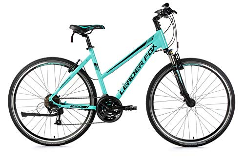 28 Zoll Alu Leader Fox Viatic Lady Cross MTB Damen Fahrrad türkis