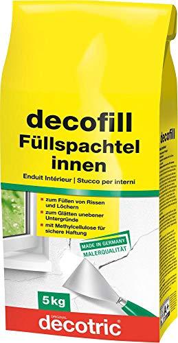 Decotric 1015 Decofill Füllspachtel Wand-Spachtelmasse innen 5kg, Gibs
