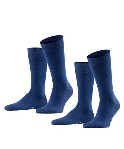 FALKE Herren Happy 2-Pack M SO Socken, Blau (Royal Blue 6000), 39-42 (2er Pack)