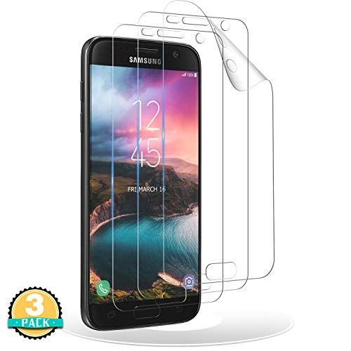 RIIMUHIR Schutzfolie kompatibel mit Samsung Galaxy S7,[3 Stück] TPU Folie für Samsung S7,[Blasenfreie] [Anti-Öl] [Anti-Kratzer] Klar Folie TPU Displayschutzfolie S7 (Nicht Panzerglas)
