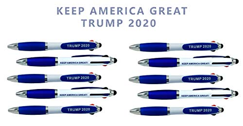 Patriotic Tricolor USA pens to Compliment Any Donald Trump Talking Pen Donald Trump Pen Holder Trump Pencil Holder Trump Pencil Sharpener Donald Trump Talking Figure Talking Trump bobblehead (x10)