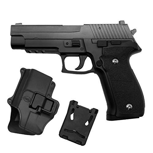 Softair Airsoft Pistola Rayline G26+ Full Metal Completamente in Metallo (Manuale a Molla), Replica nella Scala 1:1, Lunghezza: 18,5 cm, Peso: 450 g, (Meno di 0,5 Joule - da 14 Anni)