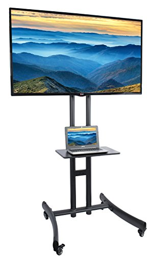 VIVO TV Cart for LCD LED Plasma Flat Panel Stand Mount w/Mobile Wheels fits 30' to 70' Screens (STAND-TV06C)