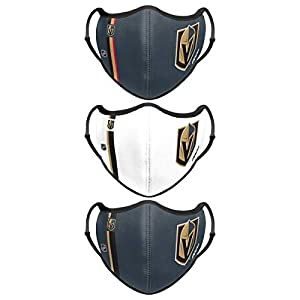 Vegas Golden Knights NHL Sport 3 Pack Face Cover by Team Beans, LLC