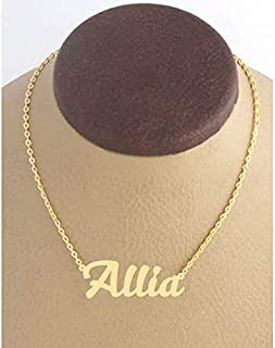 21K Gold Plated Necklace With Name Allia