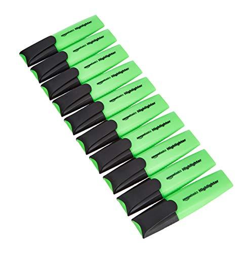 Amazon Basics - Evidenziatori, colore: verde, confezione da 10