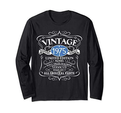 Vintage 1975 46.o regalo de cumpleaños hombres mujeres Manga Larga