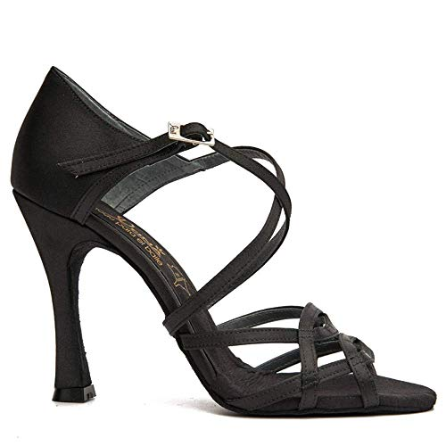 Manuel Reina - Zapatos de Baile Latino Mujer Salsa Flex 2 Black - Bailar Bachata, Salsa, Kizomba