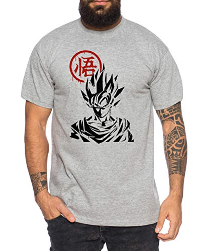 Tee Kiki Goku Front - Camiseta de Hombre Son Ruffy Luffy Naruto Saitama One Dragon Master...