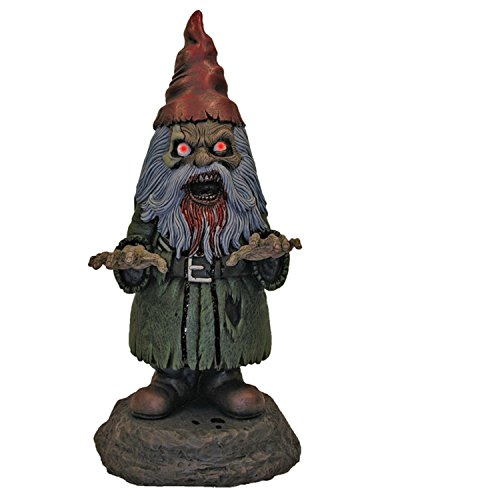 Light Up Male Zombie Garden Gnome Decoration