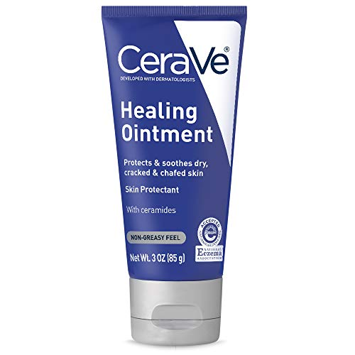 CeraVe Healing Ointment | 3 Ounce | Cracked Skin Repair Skin Protectant with Petrolatum Ceramides | Lanolin & Fragrance Free